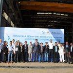 Read more about the article Steel Cutting Ceremony Huisman Offshore Mast Cranes for OOS Serooskerke