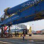 OOS Serooskerke: the first Offshore Mast Crane (OMC)'s assembled